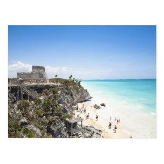 Cancun, Quintana Roo, México - ruinas en una Postal