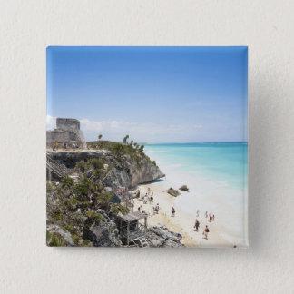 Cancun, Quintana Roo, Mexico - Ruins on a hill Button