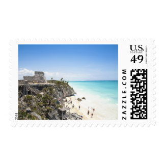 Cancun Quintana Roo Mexico - Ruins on a hill Stamps