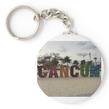 everydaylifesf Cancun Sign – Playa Delfines, Mexico Keychain
