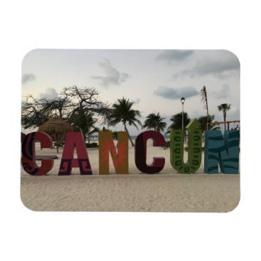 Beach Themed Cancun Sign – Playa Delfines, Mexico Photo Magnet