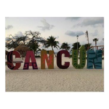 Beach Themed Cancun Sign – Playa Delfines, Mexico Postcard