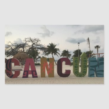 Beach Themed Cancun Sign – Playa Delfines, Mexico Stickers