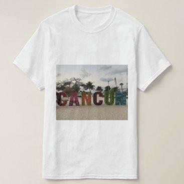 Beach Themed Cancun Sign – Playa Delfines, Mexico T-shirt