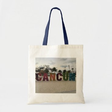 Beach Themed Cancun Sign – Playa Delfines, Mexico Tote Bag