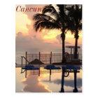 Cancun sunset postcard