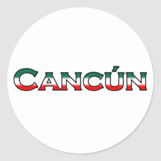 Cancun (text logo) classic round sticker