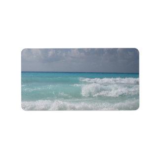 Cancun Waves Address Label