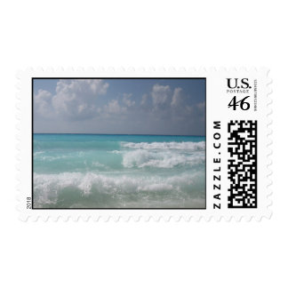 Cancun Waves Postage Stamp