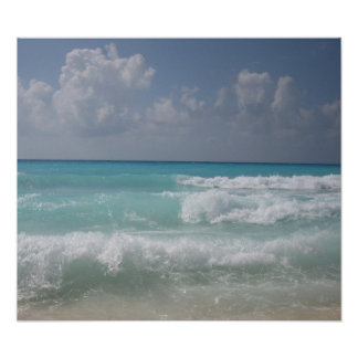 Cancun Waves Poster