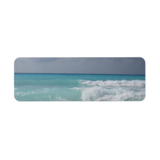 Cancun Waves Return Address Label