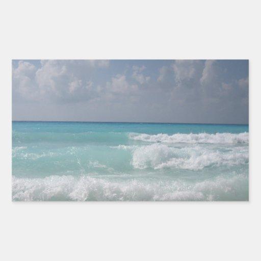 Cancun Waves Sticker