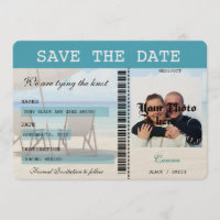Cancun Wedding  Boarding Pass Save the Date