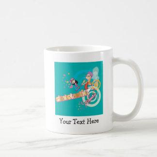Candace and Isabella Skatetastic Classic White Coffee Mug