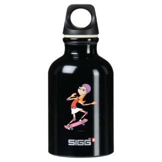 Candace on Skateboard 2 Water Bottle