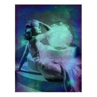 Candace - postal del sueño del verde azul