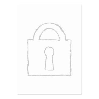 Candado. Máximo secreto o icono de la seguridad Tarjetas De Visita Grandes