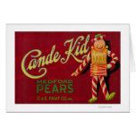 Cande Kid Pear Crate LabelMedford, OR Card