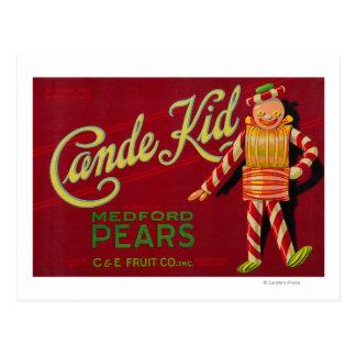 Cande Kid Pear Crate LabelMedford, OR Postcard