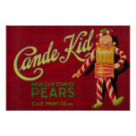 Cande Kid Pear Crate LabelMedford, OR Poster