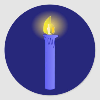 Candela candle pegatina redonda