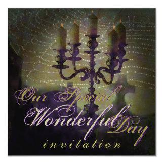 Candelabra Dark Romance Halloween Wedding Invite