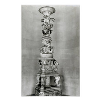 Candelabra designed by Piranesi on the basis Poster