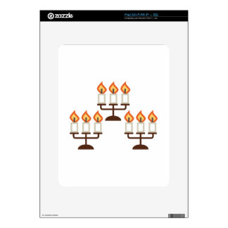 Candelabra iPad Decal