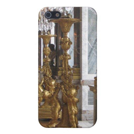 Candelabras de oro, castillo francés de Versalles iPhone 5 Funda