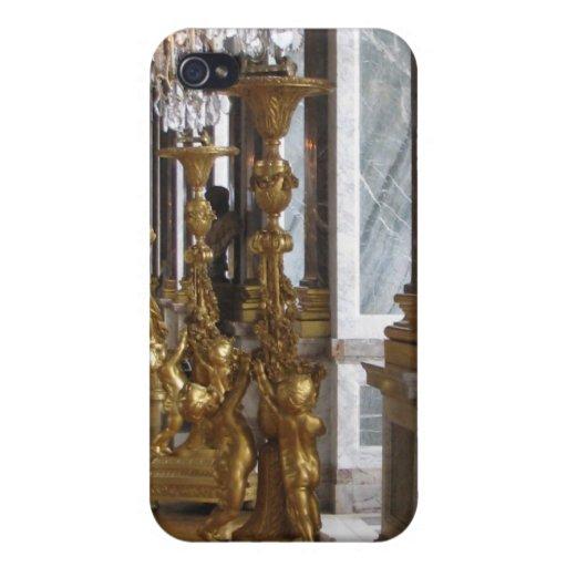 Candelabras de oro, castillo francés de Versalles iPhone 4/4S Carcasas
