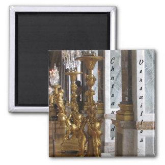 Candelabras de oro, castillo francés de Versalles Imán Cuadrado
