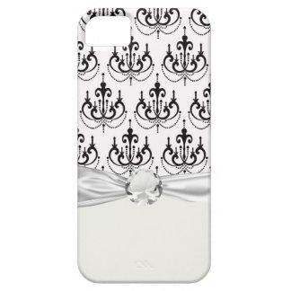candelabro preto no design moderno branco do damas iPhone SE/5/5s case