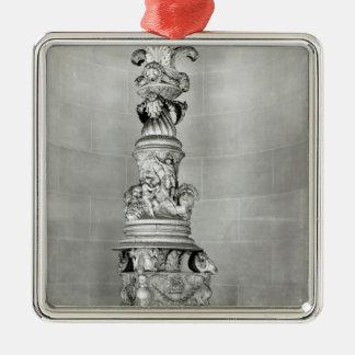 Candelabros diseñados por Piranesi sobre la base Adorno Navideño Cuadrado De Metal