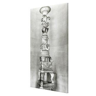 Candelabros diseñados por Piranesi sobre la base Impresión En Lona