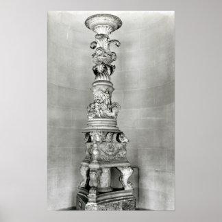 Candelabros diseñados por Piranesi sobre la base Póster