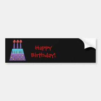 Candels coloridos del feliz cumpleaños del fiesta  pegatina para auto