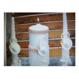 candels del boda postal