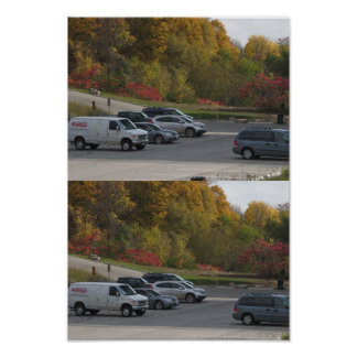Candian Fall Colorful Nature Parking Picnic spot Poster