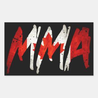 Candian Flag MMA Sticker