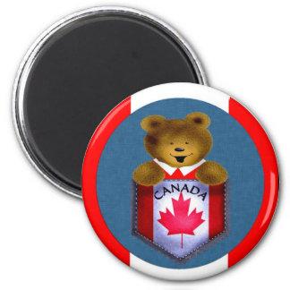 Candian Pocket Bear 2 Inch Round Magnet