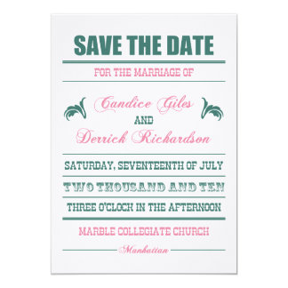 Candice Save the Date Card