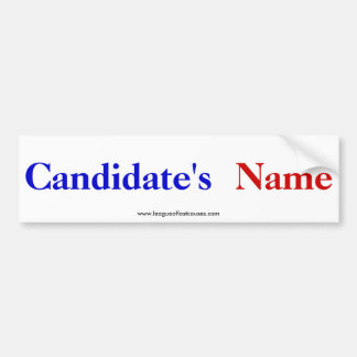 """""""Candidate"""" bumper sticker Car Bumper Sticker"""