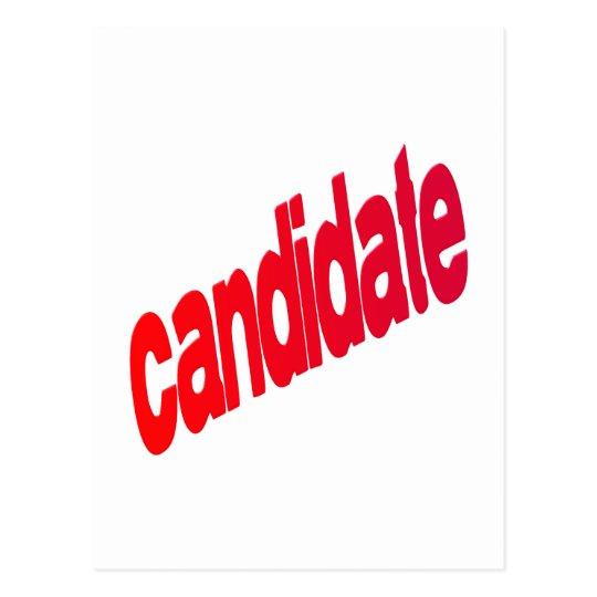 candidate postcard