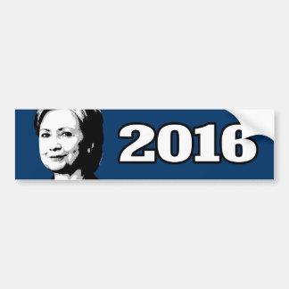 Candidato 2016 de HILLARY CLINTON Pegatina Para Coche