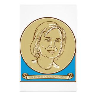 Candidato 2016 de Hillary Clinton Demócrata Papeleria De Diseño