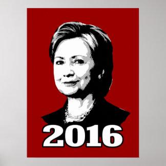 Candidato 2016 de HILLARY CLINTON Póster