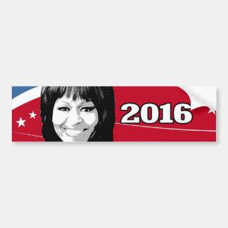 Candidato 2016 de MICHELLE OBAMA Pegatina Para Auto