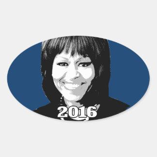 Candidato 2016 de MICHELLE OBAMA Pegatina Ovalada