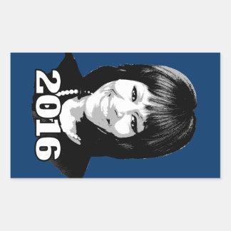 Candidato 2016 de MICHELLE OBAMA Pegatina Rectangular