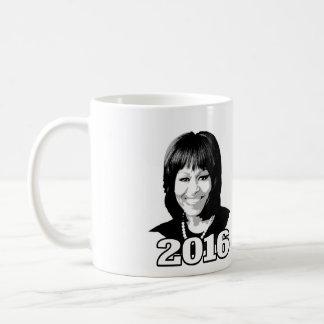 Candidato 2016 de MICHELLE OBAMA Taza Básica Blanca